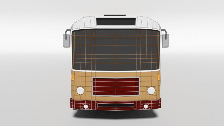 Retro Poly Cartoon Retro Bus royalty-free 3d model - Preview no. 18