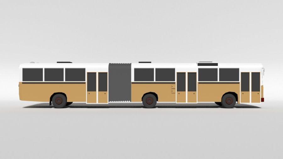 Retro Poly Cartoon Retro Bus royalty-free 3d model - Preview no. 6