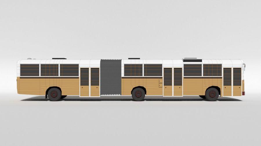 Retro Poly Cartoon Retro Bus royalty-free 3d model - Preview no. 16