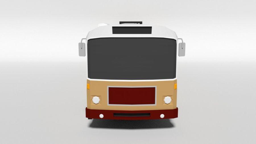 Retro Poly Cartoon Retro Bus royalty-free 3d model - Preview no. 8