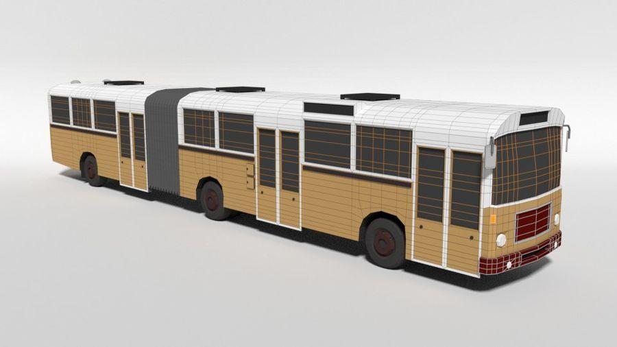 Retro Poly Cartoon Retro Bus royalty-free 3d model - Preview no. 17