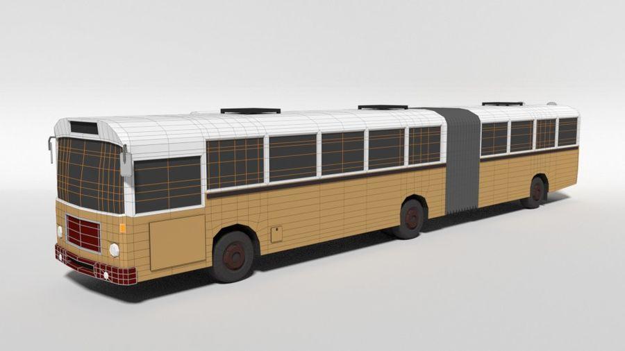 Retro Poly Cartoon Retro Bus royalty-free 3d model - Preview no. 11