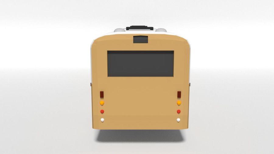 Retro Poly Cartoon Retro Bus royalty-free 3d model - Preview no. 4