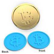 Moeda Bitcoin 3d model