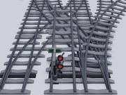 Железнодорожные рельсы 3d model