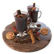 Mulled wine cups 3d model