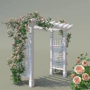 Garden Arch No. 2 Climbing Peony Rose 3d model