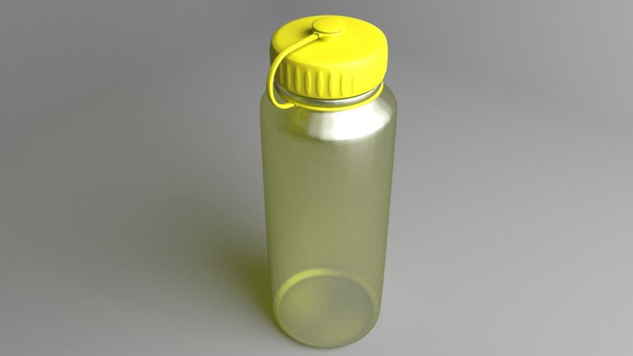 Multi-use Water Bottle royalty-free 3d model - Preview no. 6