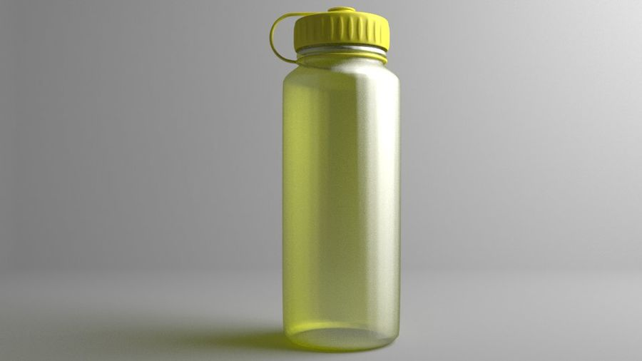 Multi-use Water Bottle royalty-free 3d model - Preview no. 3