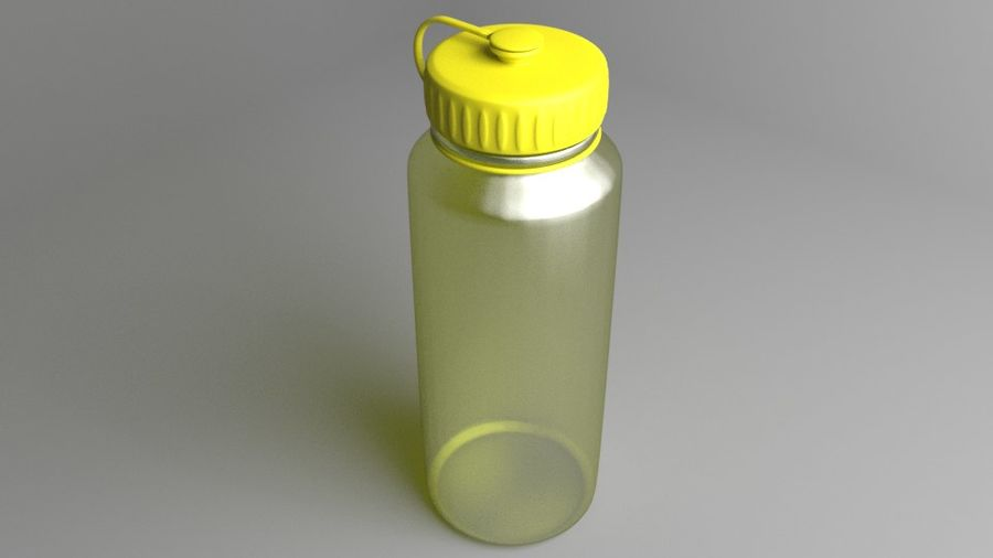 Multi-use Water Bottle royalty-free 3d model - Preview no. 2