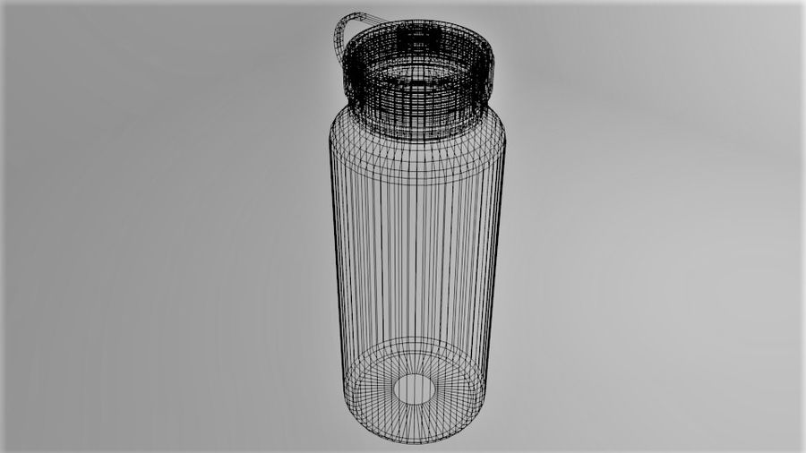 Multi-use Water Bottle royalty-free 3d model - Preview no. 7