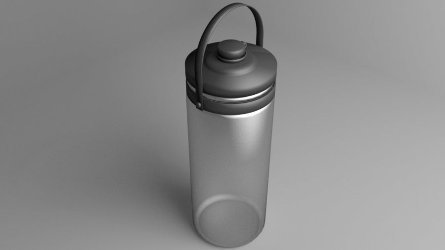 Multi-use with Handle Water Bottle royalty-free 3d model - Preview no. 6