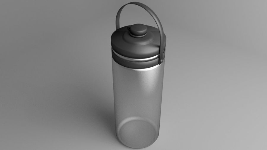 Multi-use with Handle Water Bottle royalty-free 3d model - Preview no. 2