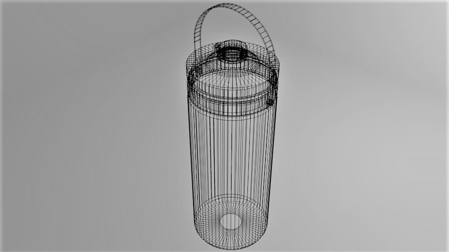 Multi-use with Handle Water Bottle royalty-free 3d model - Preview no. 7