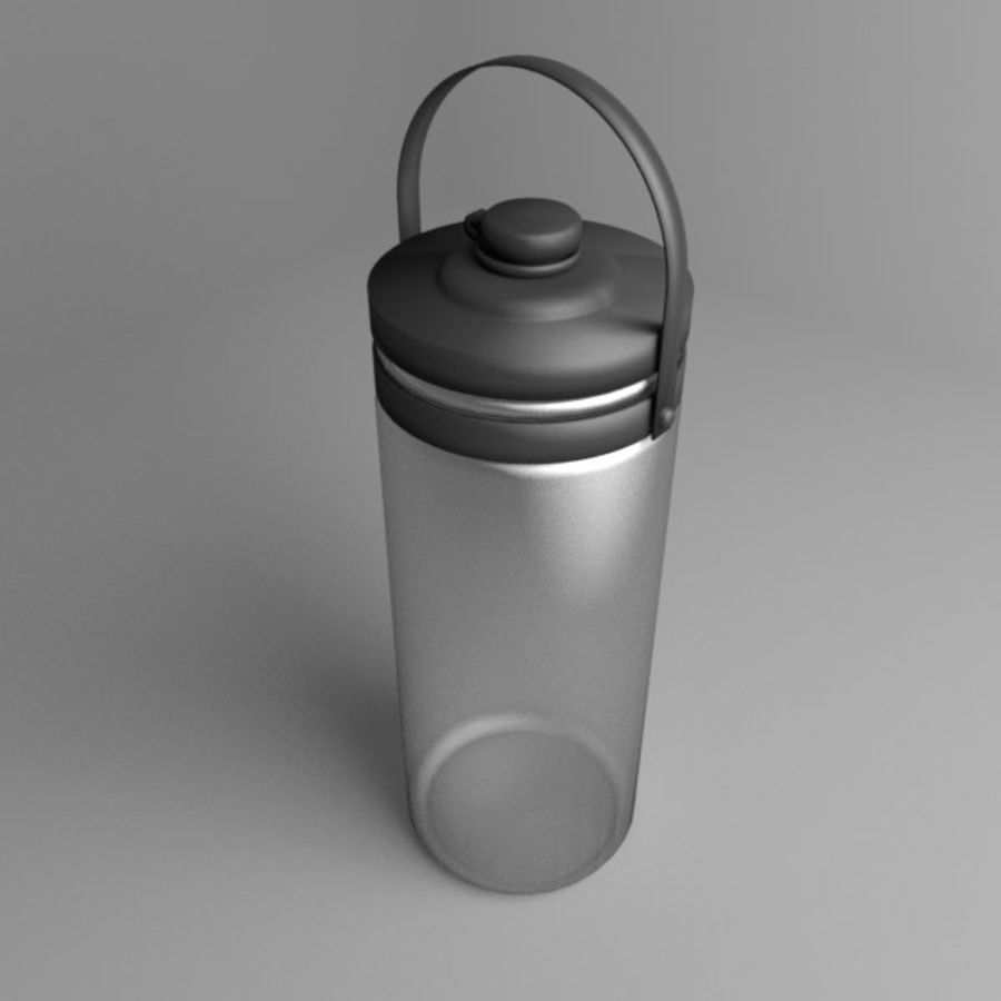 Multi-use with Handle Water Bottle royalty-free 3d model - Preview no. 1