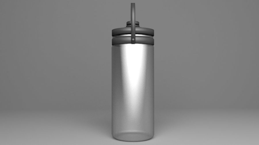 Multi-use with Handle Water Bottle royalty-free 3d model - Preview no. 5