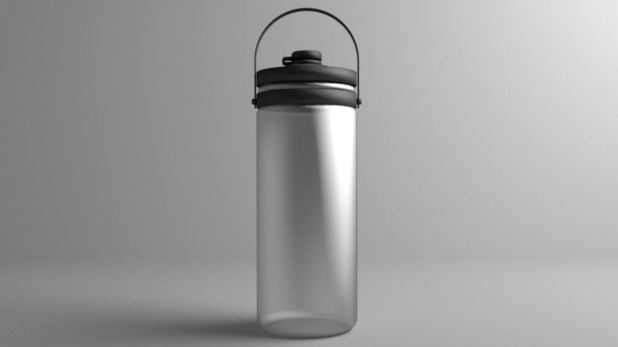Multi-use with Handle Water Bottle royalty-free 3d model - Preview no. 3