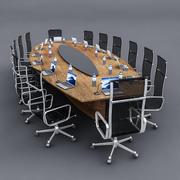 Table de réunion 01 3d model