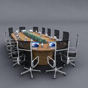 Table de réunion 02 3d model