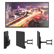 Panasonic - TV com suporte 3d model