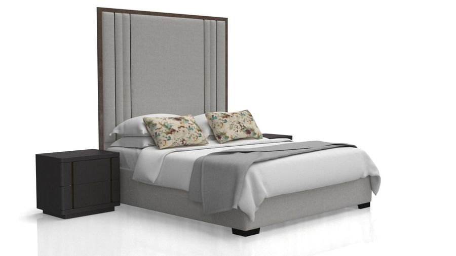 Letto con comodino royalty-free 3d model - Preview no. 6