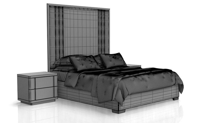 Bett mit Nachttisch royalty-free 3d model - Preview no. 13