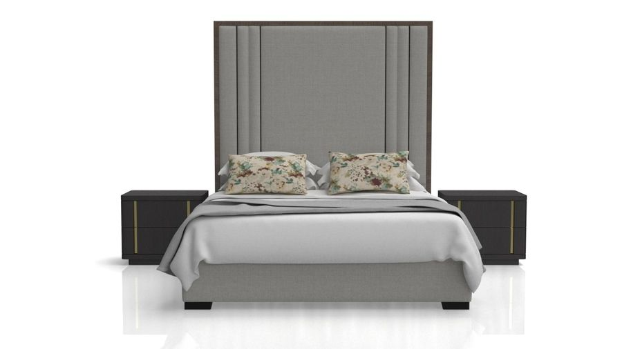 Letto con comodino royalty-free 3d model - Preview no. 5