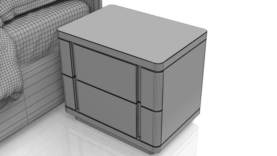 Bett mit Nachttisch royalty-free 3d model - Preview no. 10