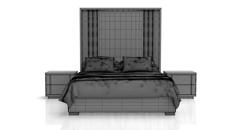 Letto con comodino royalty-free 3d model - Preview no. 12
