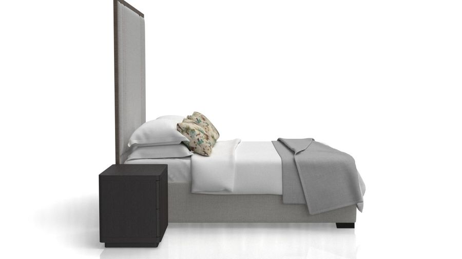 Letto con comodino royalty-free 3d model - Preview no. 7