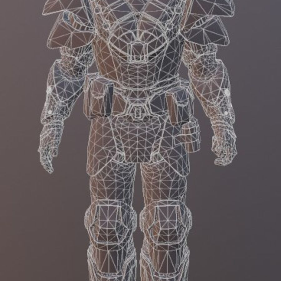 机器人角色 royalty-free 3d model - Preview no. 3