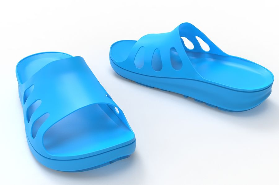 Slippers shoes royalty-free 3d model - Preview no. 6