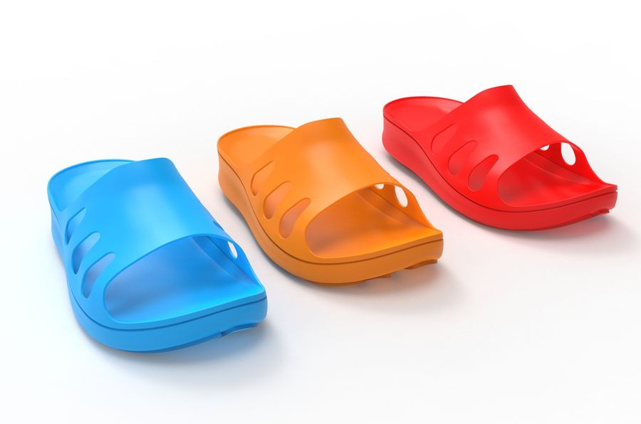 Slippers shoes royalty-free 3d model - Preview no. 4