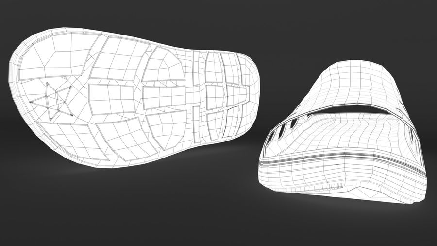 Slippers shoes royalty-free 3d model - Preview no. 13