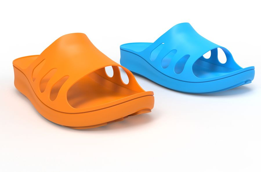 Slippers shoes royalty-free 3d model - Preview no. 1