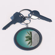 Klucze na pęku kluczy 3d model