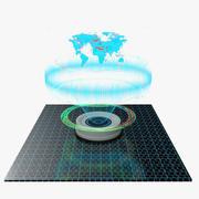 Interactive Map Hologram 3d model