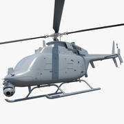 Northrop Grumman MQ-8C Fire Scout Unmanned Helicopter Rigged 3d model