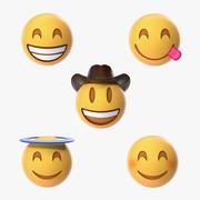Smiling Emoji Collection 3d model