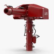 Pistola de agua contra incendios equipada para Maya modelo 3d