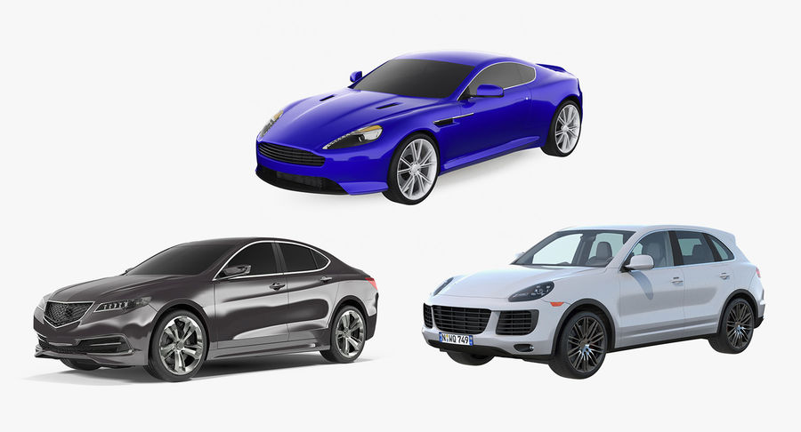 Luxury Cars Collection 21 royalty-free 3d model - Preview no. 2