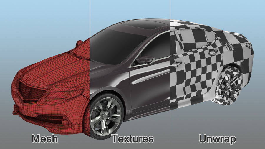 Luxury Cars Collection 21 royalty-free 3d model - Preview no. 7