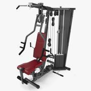 Multi Fitness Equipment Home Gym 3d model