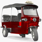 Авто рикша оснащена 3d model