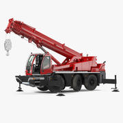 Generic Rigged Compact Mobile Crane 3d model