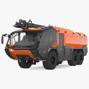 Camion antincendio 6x6 3d model