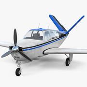 Ogon samolotu V z pojedynczym silnikiem 3d model