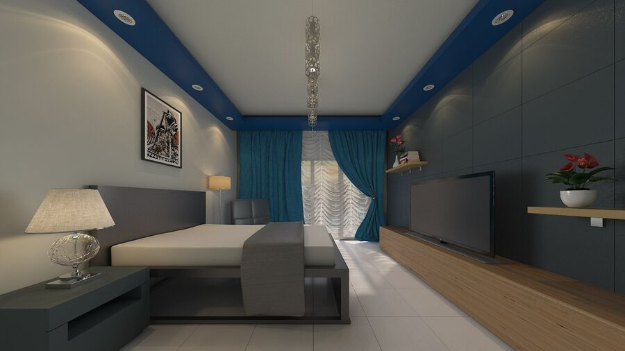 Bedroom Interior Design 3d Model 149 Stl Obj Ige Fbx Dxf 3ds Max Unknown Free3d