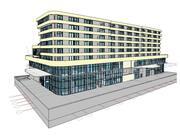 Hôtel à Revit 3d model