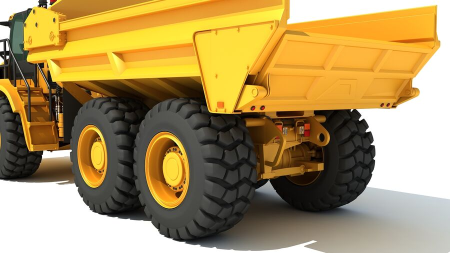 Camion articolato royalty-free 3d model - Preview no. 13